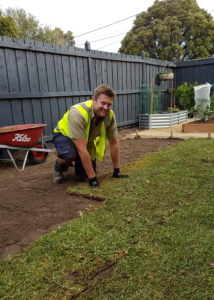 Landscaping Laying Turf